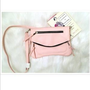 Handbags - Pink Blush Fold Over Double Zip Cross-body